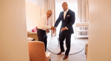 Dwayne Johnson Tailored Suit;