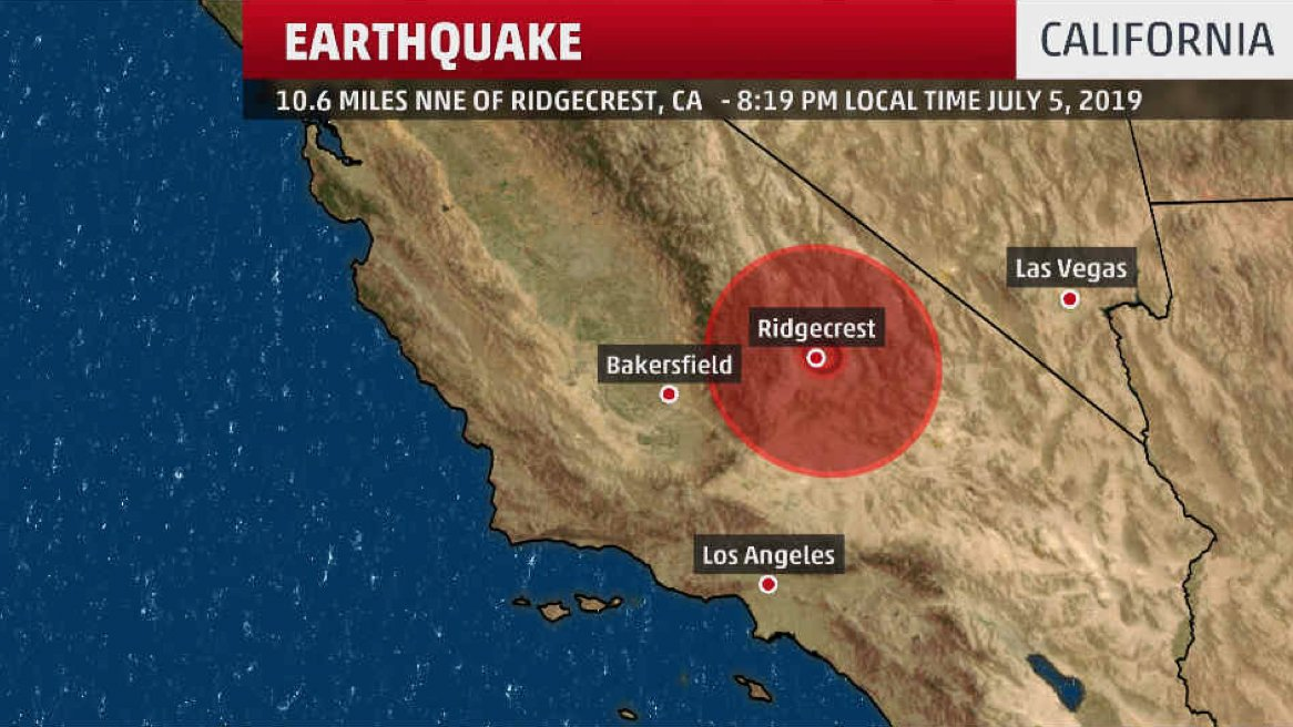 Magnitude 7.1 Earthquake hits Southern California city of Ridgecrest;