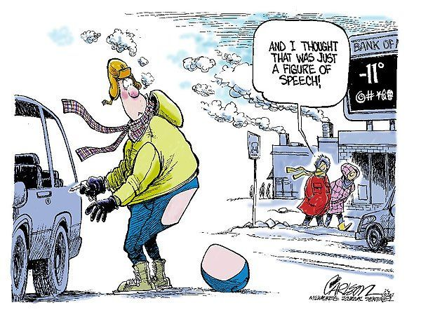 Freezing Cold Funny Cartoon;