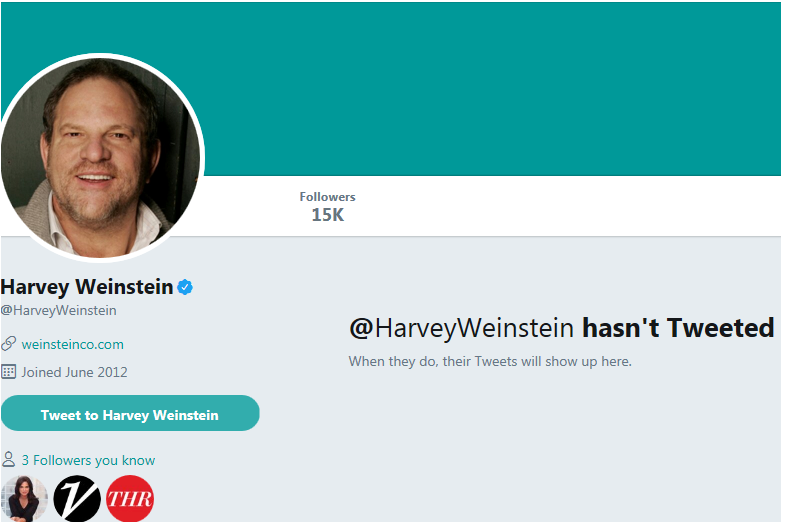 Harvey Weinstein Twitter;
