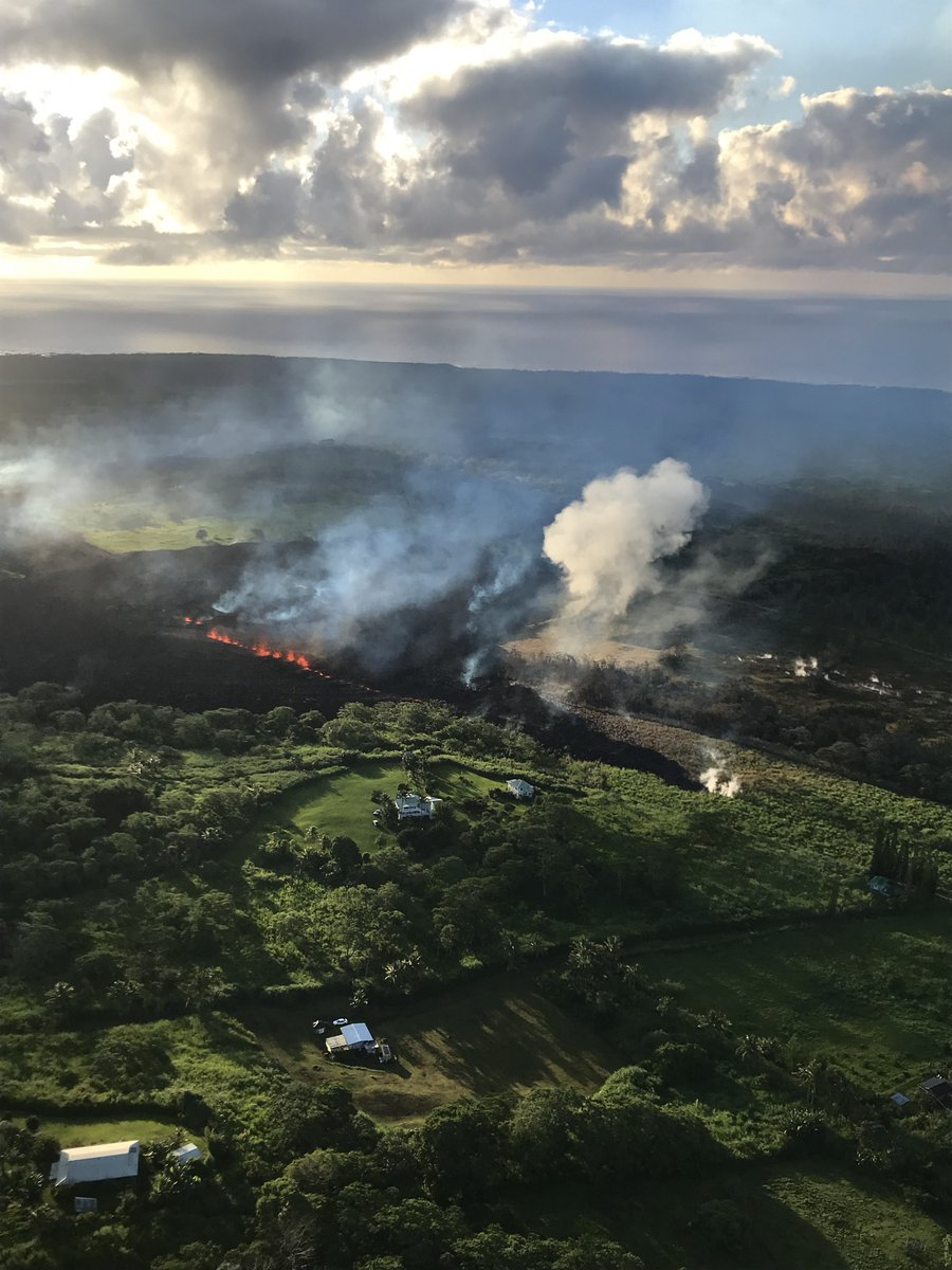 Hawaii Kilauea Volcano Smoke;