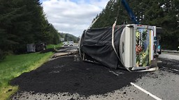 Human waste spilled all over Interstate 90 in the state of Washington;