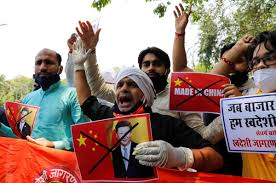India's citizens protesting China;