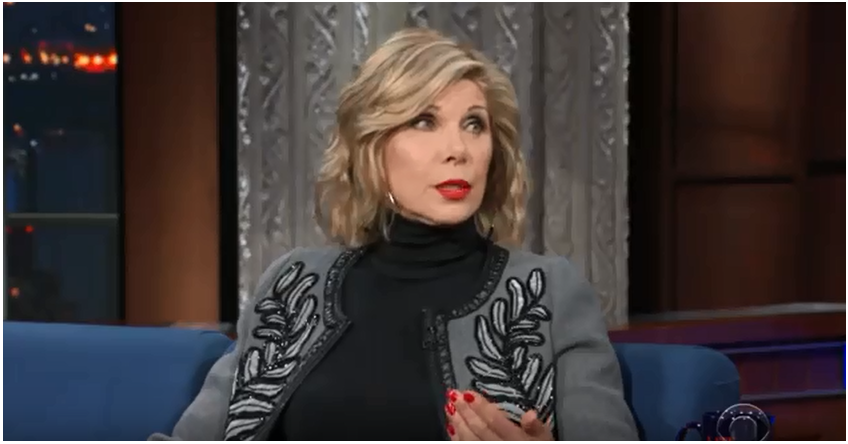 The Late Show with Stephen Colbert guest Christine Baranski