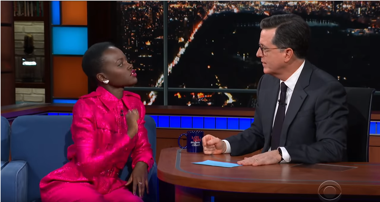 The Late Show with Stephen Colbert guest Lupita Nyong'o