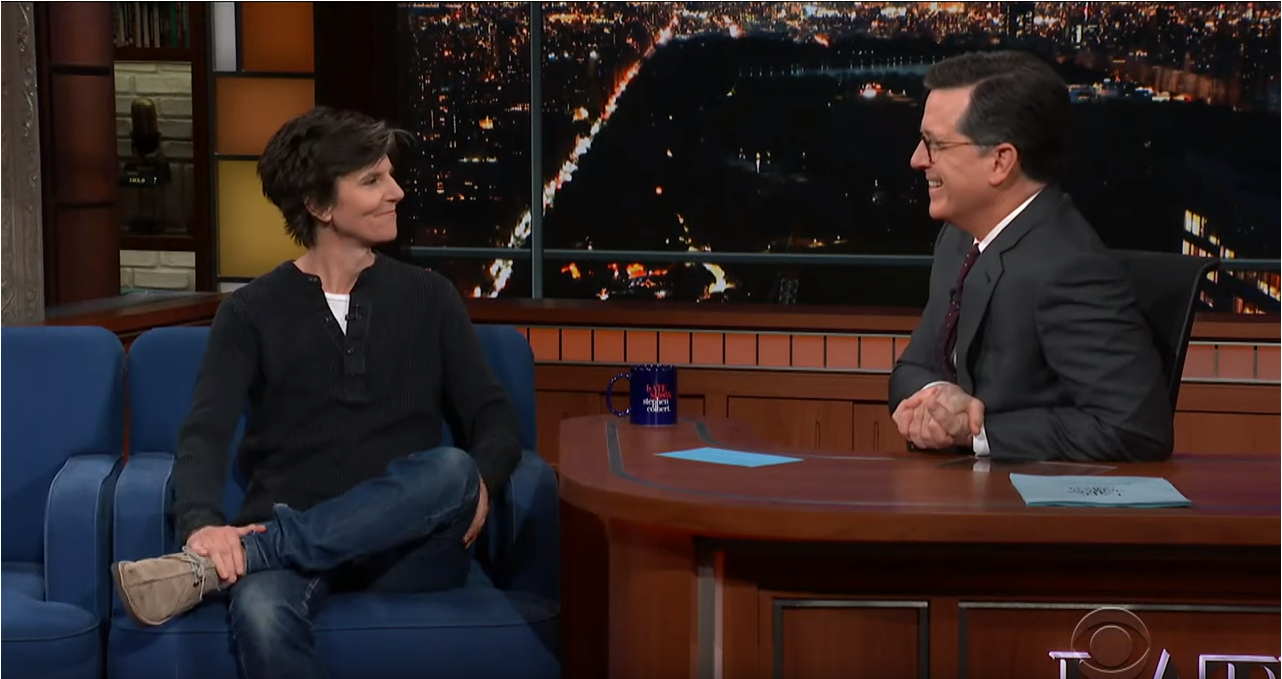 The Late Show with Stephen Colbert guest Tig Notaro;