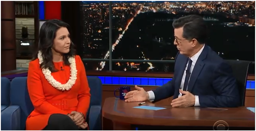 The Late Show with Stephen Colbert Tulsi Gabbard ;