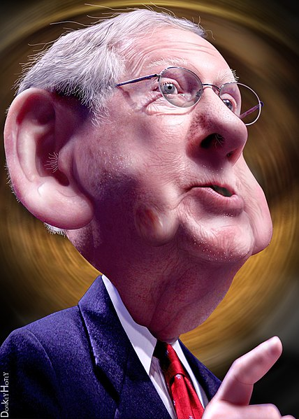 Mitch McConnell Caricature;