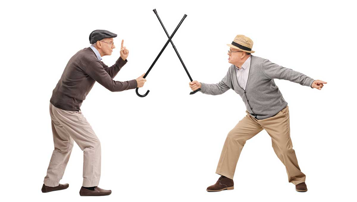 Old Men Fighting;