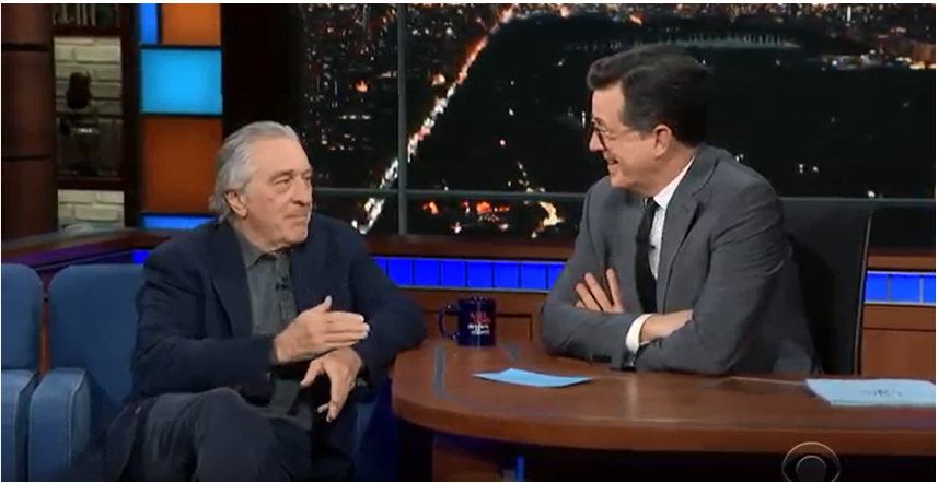 Robert De Niro The Late Show with Stephen Colbert;