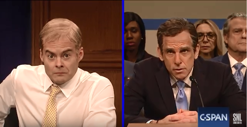 SNL Ben Stiller as Michael Cohen during the Cohen Hearings;