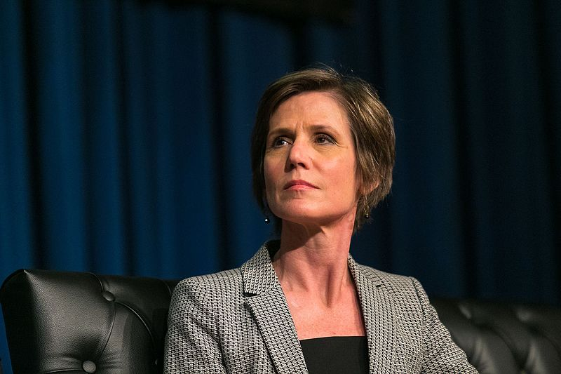 Former Acting Attorney General Sally Yates;