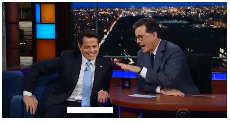 Stephen Colbert Anthony Scaramucci;