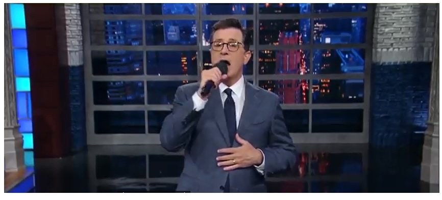 Stephen Colbert Singing
