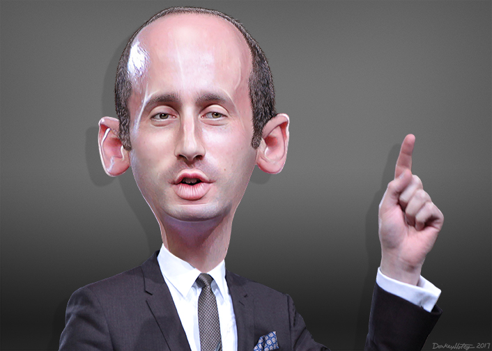 Stephen Miller Caricature;