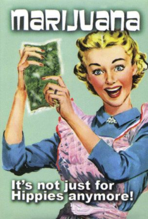 House Wife with Marijuana Bag;